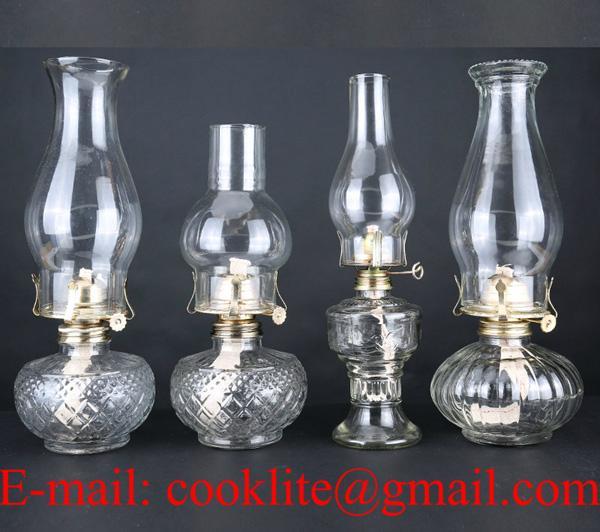 Vintage Glass Kerosene Lamps