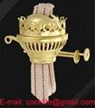 Antique Brass Plated Duplex Oil Lamp Burner