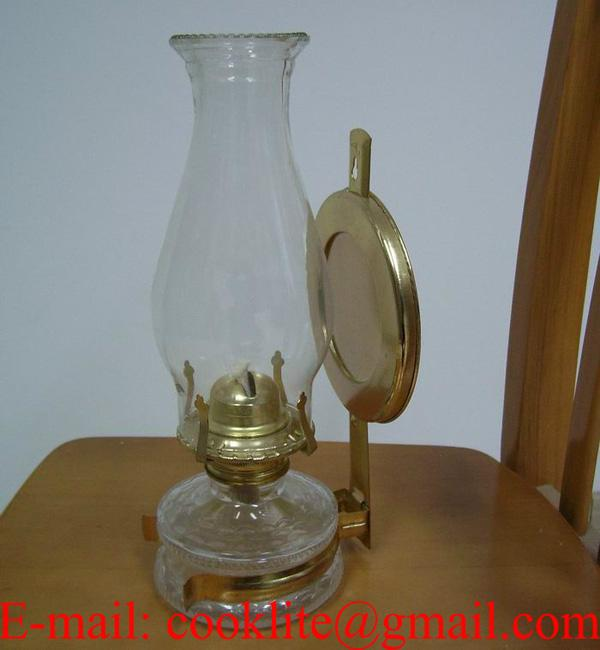 Vintage Hurricane Oil Lamp With Reflector