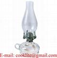 Vintage Clear Glass Finger Kerosene Oil Lamp