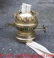 Duplex twin wick kerosene oil lamp burner with extinguisher