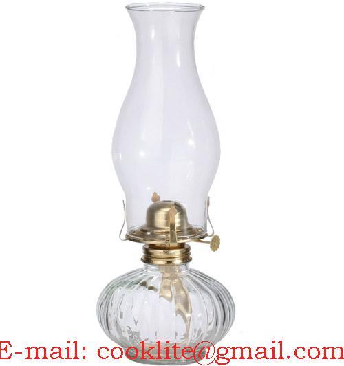 Cleared vintage glass kerosene flare