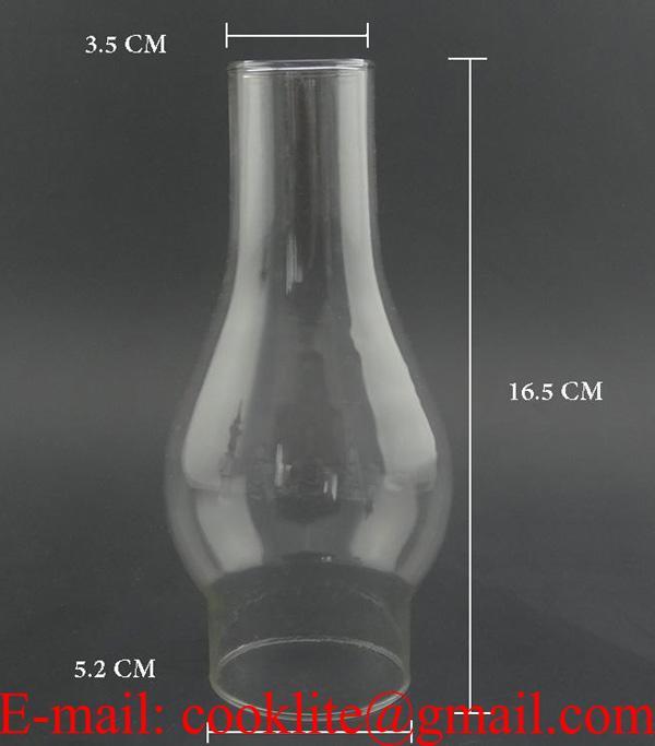 Clear Glass Kerosene Oil Lamp Chimney