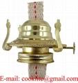 3″Kerosene or Oil Lamp Burner with Collar and Flat Wick