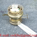 Antique Brass Plated Duplex Kerosene Oil Lamp Burner
