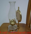 Vintage Clear Glass Wall Sconce Paraffin Oil Lamp