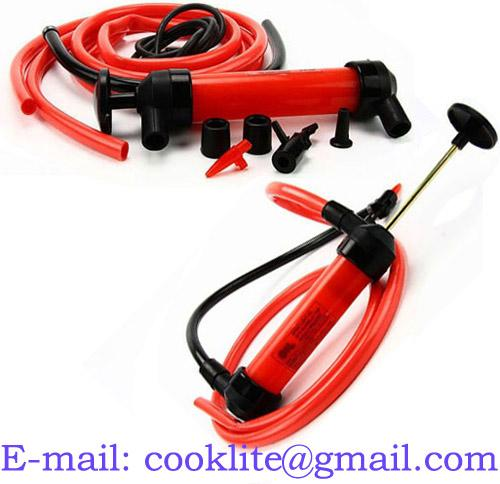 Portable Multi-purpose Water Oil Fuel Transfer Siphon Pump with Air Inflator