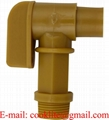"3/4"" BSP Thread Polyethylene Barrel Faucet Gold Drum Tap Plastic Spigot"