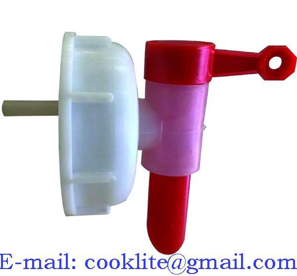 DIN 71 Aeroflow Dispensing Tap Polyethylene Anti-Glug Drum Faucet Spigot