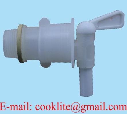 "3/4"" BSP Thread Polyethylene Drum Barrel Tap / PE Plastic Pail Faucet"