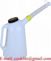 3L Oil Measuring Jug Plastic Fuel Water Container