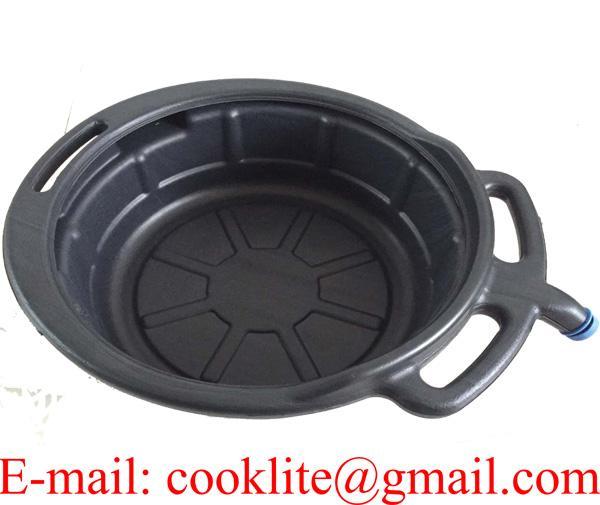 7 Litre Portable Black Oil Change Drain Pan Car Truck Automotive