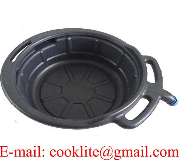17L PE Plastic Oil Drain Pan Portable Drip Tray