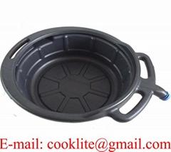 17L PE Plastic Oil Drain Pan Portable Drip Tray