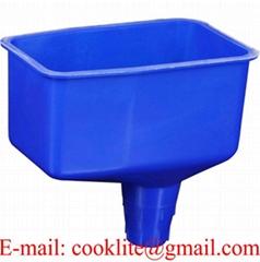 2 Pint Locking Oil Funnel No Spill Plastic Drum Funnel