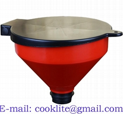 4 Quart PP Lockable Drum Funnel With Removable Screen Filter