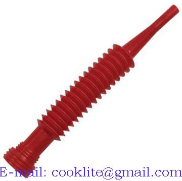 Polypropylene ( PP ) Flex-O-Spout Red Flexible Pour Spout Funnel King Type