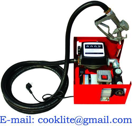 Τοίχος ή τοποθετημένη δεξαμενή 220V αντλία μεταφοράς καυσίμων με το μετρητή/το χειρωνακτικό ακροφύσιο