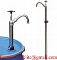 Lyftstångspump syrafast stål / Fatpumpar för kemikalier (passar även för urea/carbamide) och lösningsmedel