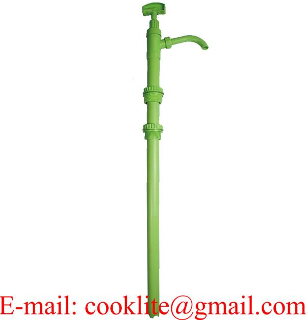 Hand operated acid transfer pump vertical lift drum pump