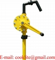 Chemical Resistant Plastic Rotary Hand Pump Made of PP or PPS Material Fits 5 - 55 Gallon Drum