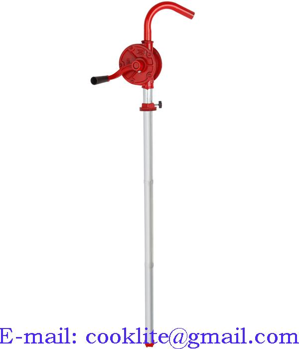 Cast Iron Rotary Gas Oil Fuel Hand Pump 55 Gallons Self Priming Dispenser JS-32