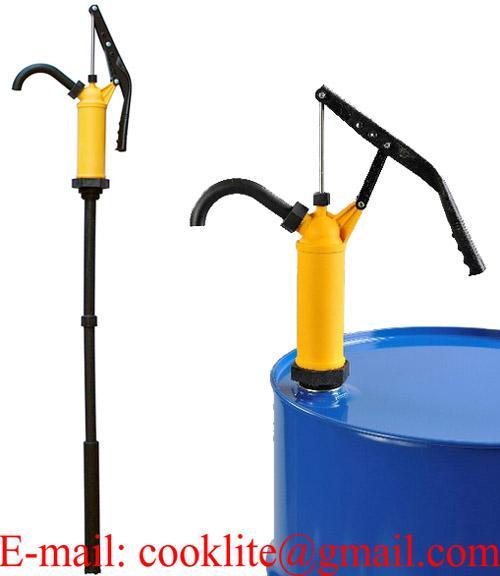 Ruční pákové sudové čerpadlo na kyseliny a louhy z polypropylenu (PP)