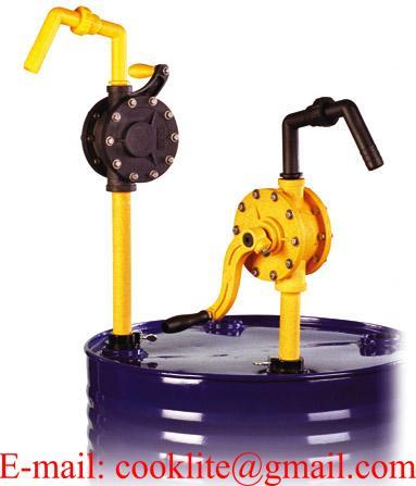 Ruční rotační chemické sudové čerpadlo / Ruční plastové čerpadlo