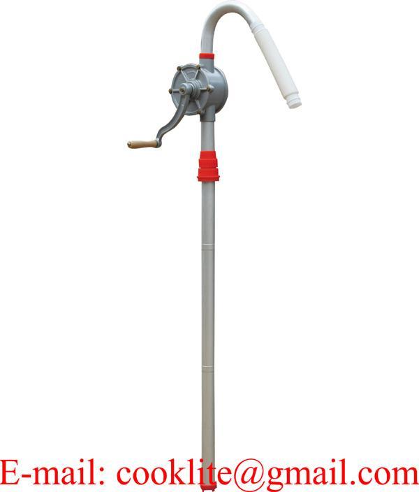 Bomba manual rotativa de alumínio com manivela