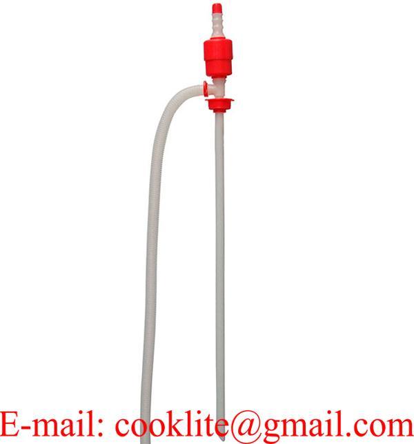 Bomba sifón manual para trasvasar de líquidos y combustible