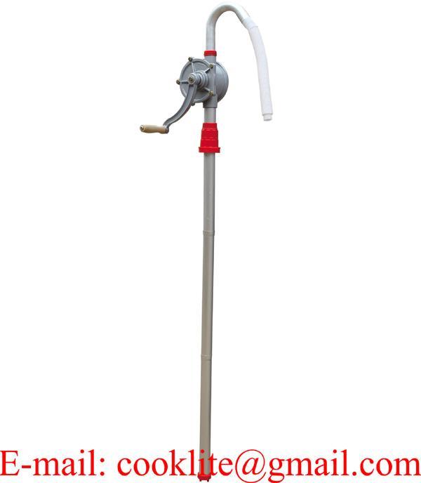 Bomba Manual Rotativa en Aluminio Trasiego Gasolina Gasoil Biodiesel Trasvase Aceite