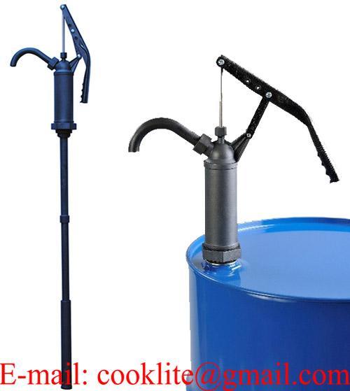 Pompe de transfert manuel à piston pour produits chimiques
