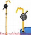 Pompa rotativa in Polyphenylene ( Ryton ) ad azionamento manuale per acidi - specifica per solventi e prodotti chimici