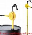 Handkurbelpumpe RP90P Fasspumpe für aggressive Flüssigkeiten, Pflanzenschutzmittel, Detergenzien, Öle usw.