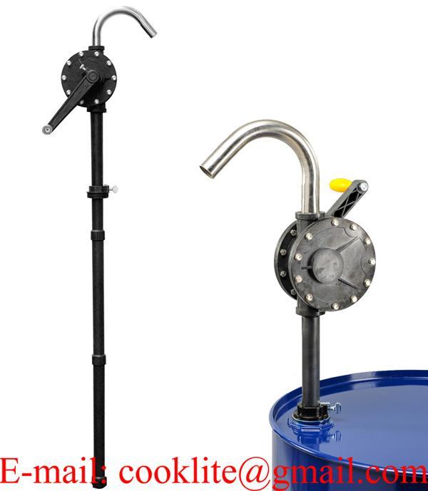 Tekerőkaros kézi vegyszerpumpa / Műanyag forgódugattyús szivattyú 55/205 L