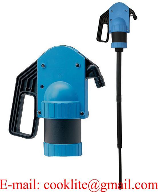 Műanyag dugattyús hordópumpa / Karos vegyi anyag pumpa