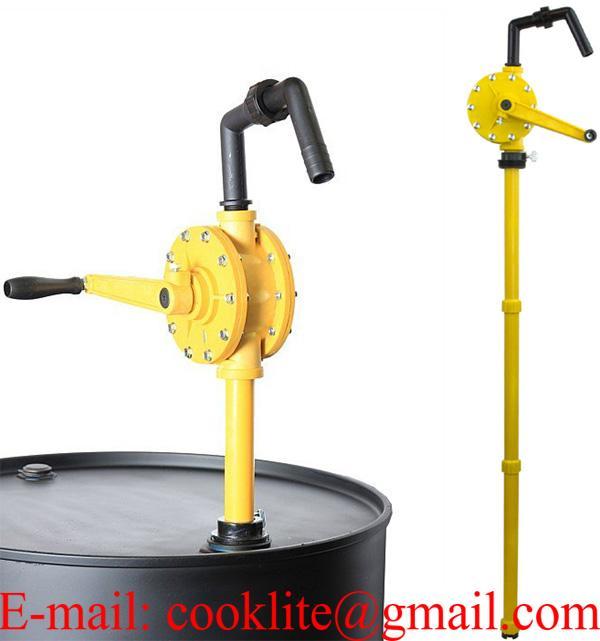 Műanyag tekerős hordópumpa hordószivattyú vegyi anyagokra / Tekerőkaros kézi vegyszerpumpa 55/205 L