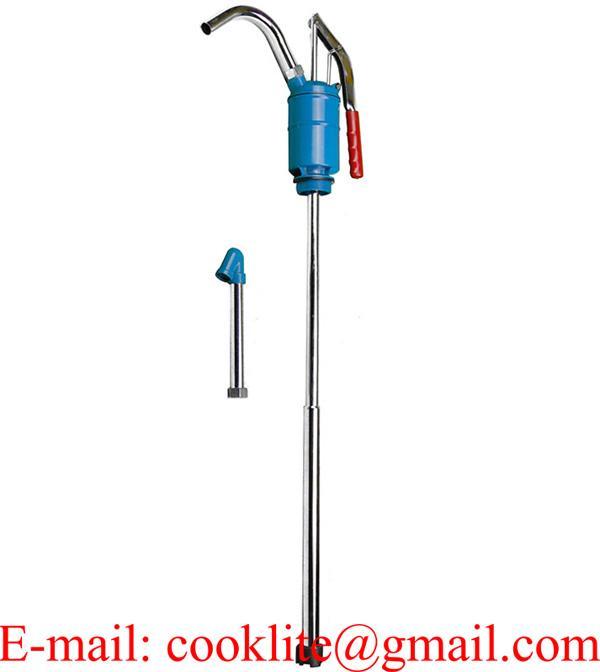 Handbediende metalen hevelpomp / Olievaten pomp verzinkt / Manuele handoliepomp