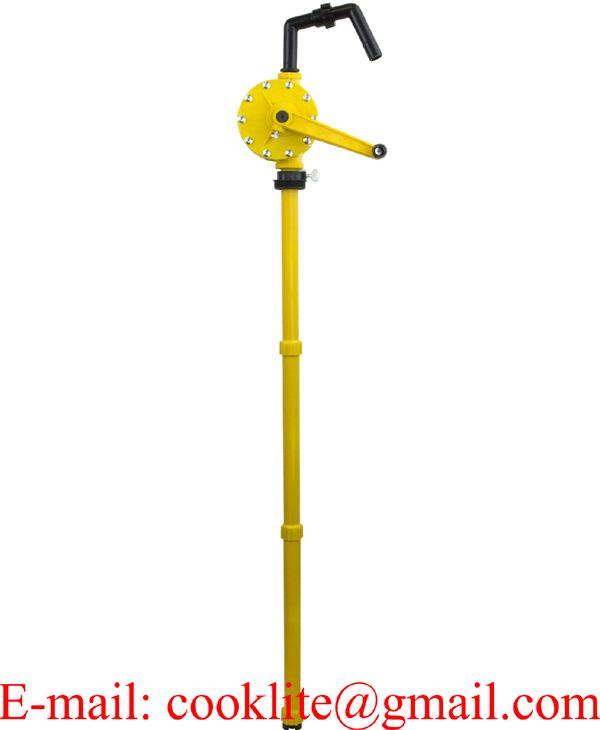 Roterende vatpomp RP-90P / Handmatige rotatiepomp / Polypropyleen chemikaliën pomp