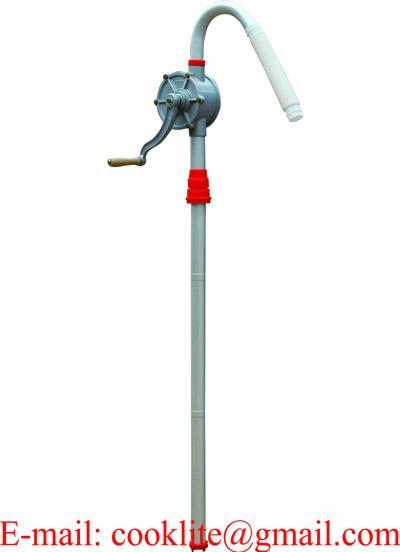 Pompka rotacyjna pompa ręczna ze aluminiowa do paliw i oleju na korbę