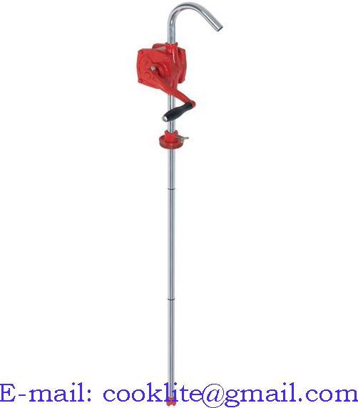 Pompa ręczna rotacyjna na korbę do paliwa oleju / Pompka beczkowa stalowa