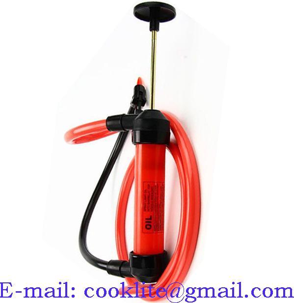 Pompka ręczna syfonowa do kanistrów / Plastikowa pompa do spuszczania paliwa ropy oleju