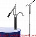 Vippe håndpumpe med teleskoprør til olie / Stangpumpe i jern med vippehåndtag til olietønder