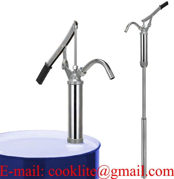 Fatpump hävstång / Hävarmspump för 1/1-fat, rostfri med PTFE tätningar