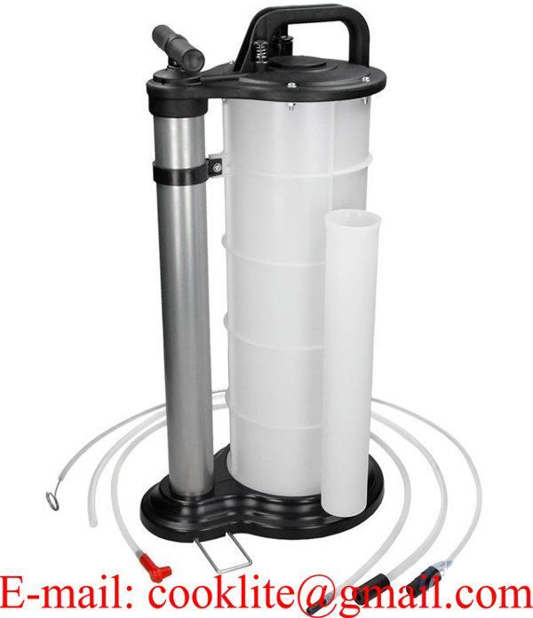 Oljebytare oljesug handpump vacuum / Oljebytarpump behållare 9 liter