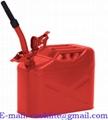 Jeepdunk i röd plåt med låssprint i locket 10 lit