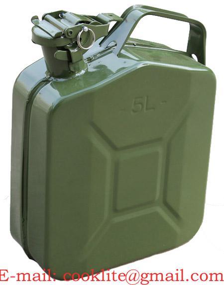 Plechový kanister na PHM s klapkovým uzáverom 5L
