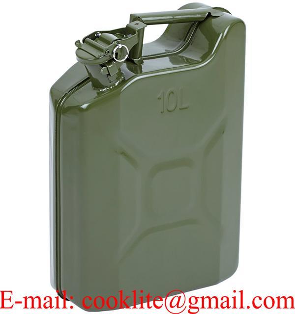 Plechový benzínový kanister 10L