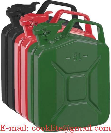Plechový rezervný kanister 5L na benzín alebo naftu