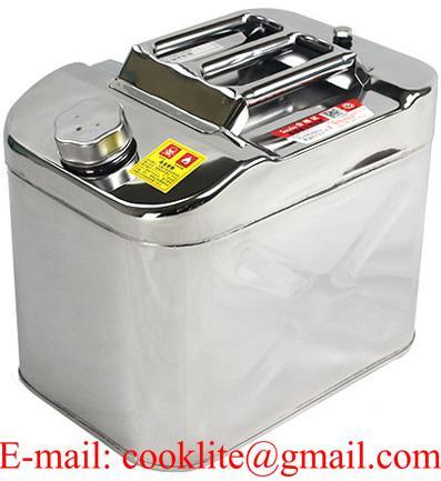 Canistra combustibil din innox 20L cu furtun flexibil transfer lichide